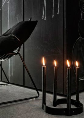 By Wirth - Ljushållare - Leather Candleholder - Black