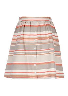 Libertine Libertine - Kjol - Late Skirt - Grey/Multi Stripe