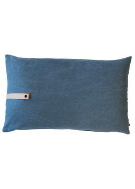 Louise Smærup - Cushion - Canvas - Blue - 80 x 50