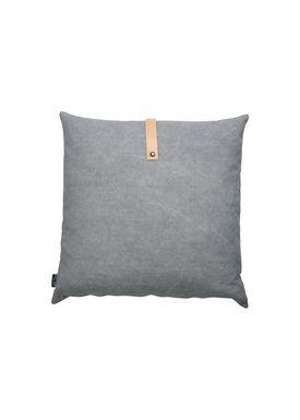 Louise Smærup - Cushion - Canvas - Light grey / Darkgrey - 50 x 50