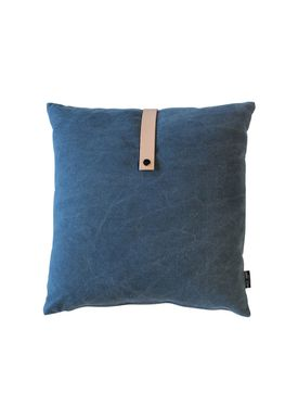 Louise Smærup - Cushion - Canvas - Blue - 50 x 50