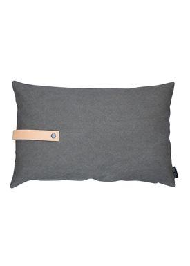 Louise Smærup - Cushion - Canvas - Army aka Brown/Grey - 80 x 50