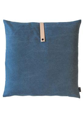 Louise Smærup - Cushion - Canvas - Blue - 65 x 65