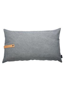 Louise Smærup - Cushion - Canvas - Light grey / Darkgrey - 80 x 50