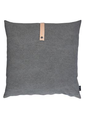 Louise Smærup - Cushion - Canvas - Army aka Brown/Grey - 65 x 65