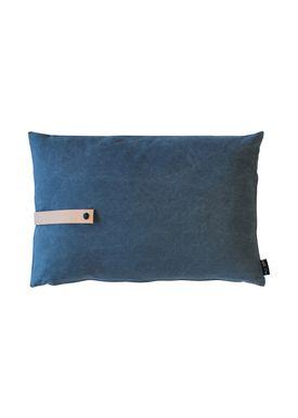 Louise Smærup - Cushion - Canvas - Blue - 40 x 60