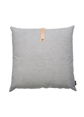 Louise Smærup - Cushion - Canvas - Light grey / Darkgrey - 65 x 65