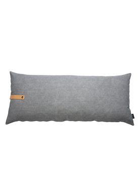 Louise Smærup - Cushion - Canvas - Light grey / Darkgrey - 110 x 50