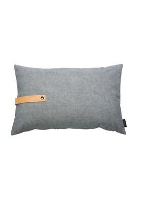Louise Smærup - Cushion - Canvas - Light grey / Darkgrey - 40 x 60