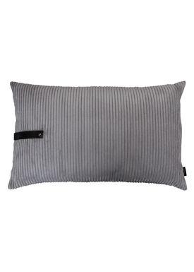 Louise Smærup - Cushion - Corderoy - Dark/Light Grey - 80 x 50