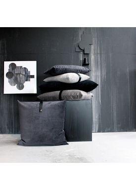 Louise Smærup - Cushion - Velvet - Blue - 40 x 60 cm