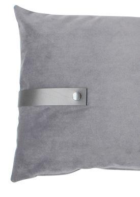 Louise Smærup - Cushion - Velour - Light Grey - 40 x 60 cm