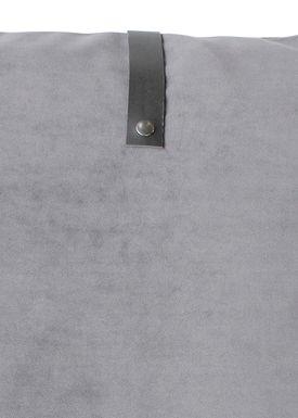 Louise Smærup - Cushion - Velour - Light Grey - 50 x 50 cm