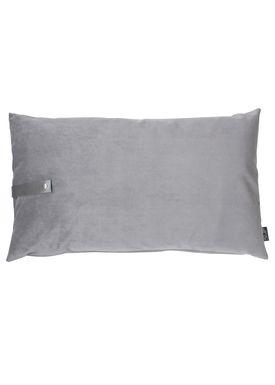 Louise Smærup - Cushion - Velour - Light Grey - 50 x 80 cm