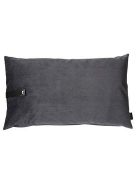 Louise Smærup - Cushion - Velour - Dark Grey - 50 x 80 cm