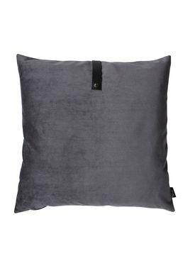 Louise Smærup - Cushion - Velourpude - Dark Grey - 65 x 65 cm