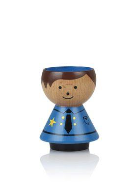 Lucie Kaas - Figure - Bordfolk Boy Egg Cups - Policeman