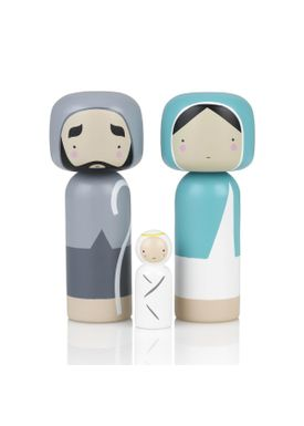 Lucie Kaas - Figure - Sketch.inc Kokeshi dolls - Nativity Set (set of 2)