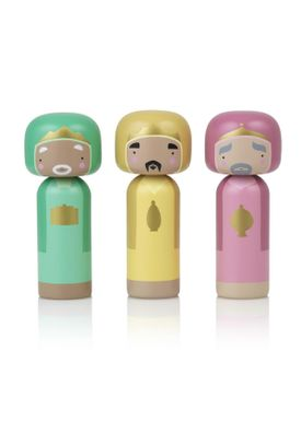 Lucie Kaas - Figure - Sketch.inc Kokeshi dolls - Wisemen (set of 3)