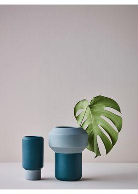 Lucie Kaas - Vase - Fumario Vase - Mintgreen/Petroleum