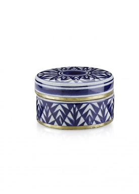Lucie Kaas - Vase - Matee Canisters - Small - Blue pines