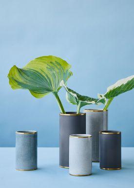 Lucie Kaas - Vase - Matee Vases - Small - Cracked Turquoise