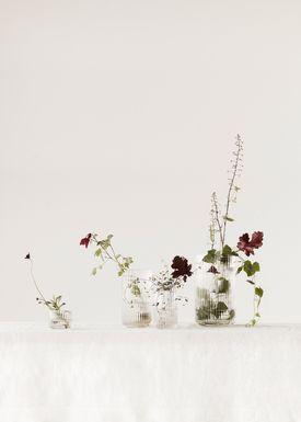 Lyngby Porcelain - Vase - Lyngby vase - Glass - Clear - 10 cm