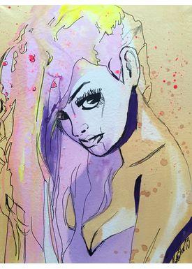 - Painting - Long hair - Multi