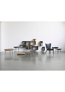 Mater - Bord - Bowl Table - Partly Recycled Aluminium, Black Powdercoated - Medium
