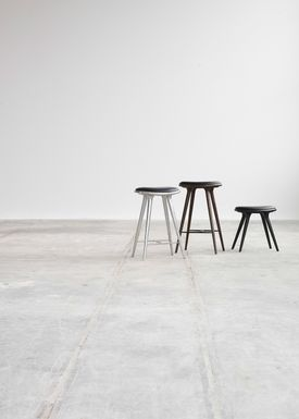 Mater - Stool - Low Stool 47 - Dark Stained Beech