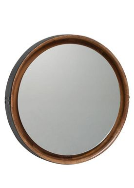 Mater - Mirror - Sophie Mirror - Natural mango wood with black leather rim