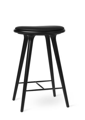 Mater - Chair - High Stool 69 - Black Stained Beech