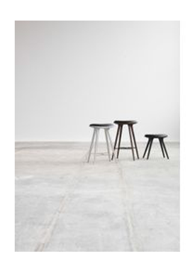 Mater - Chair - High Stool 74 - Black Stained Oak