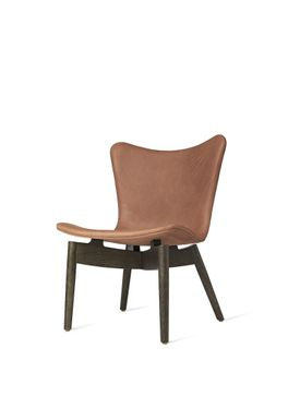 Mater - Chair - Shell lounge Chair - Dunes Rust Leather Upholster Base: Sirka Grey Oak