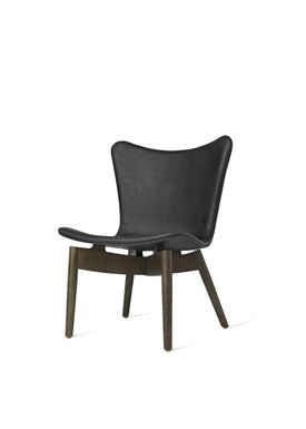 Mater - Chair - Shell lounge Chair - Ultra Anthrazit Black Leather Upholster Base: Sirka Grey Oak