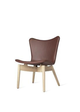 Mater - Stol - Shell lounge Chair - Ultra Cognac Leather Upholster Base: Mat Lacqured Oak