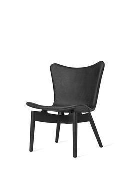 Mater - Chair - Shell lounge Chair - Dunes Anthrazit Black Leather Upholster Base: Black Oak