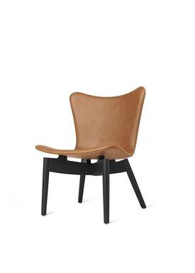 Mater - Chair - Shell lounge Chair - Ultra Brandy Leather Upholster Base: Black Oak