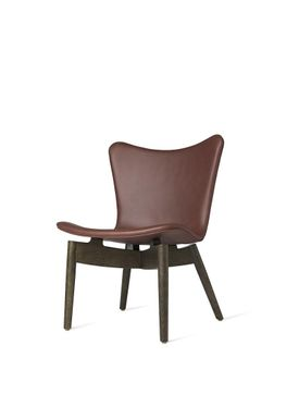 Mater - Chair - Shell lounge Chair - Ultra Cognac Leather Upholster Base: Sirka Grey Oak