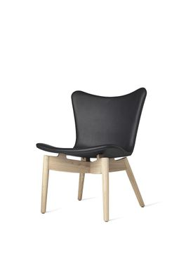 Mater - Chair - Shell lounge Chair - Ultra Black Leather Upholster Base: Mat Lacqured Oak