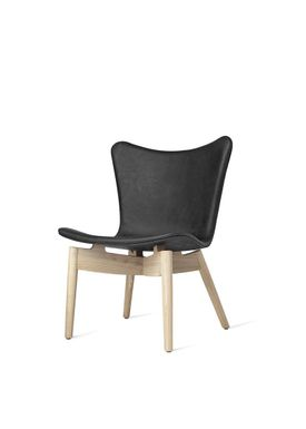 Mater - Chair - Shell lounge Chair - Dunes Anthrazit Black Leather Upholster Base: Mat Lacqured Oak