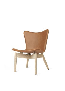 Mater - Chair - Shell lounge Chair - Ultra Brandy Leather Upholster Base: Mat Lacqured Oak