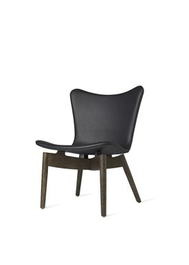 Mater - Stol - Shell lounge Chair - Ultra Black Leather Upholster Base: Sirka Grey Oak