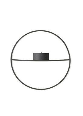 MENU - Candle Holder - POV Circle Tealight - Small - Black