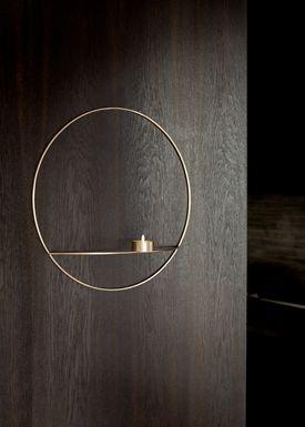 MENU - Candle Holder - POV Circle Tealight - Large - Brass