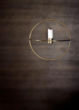 MENU - Candle Holder - POV Circle - Small - Brass