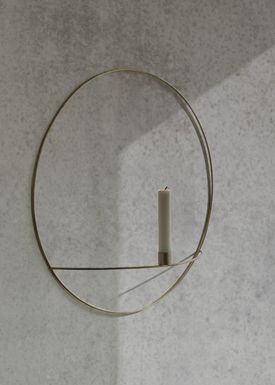 MENU - Candle Holder - POV Circle - Large - Black