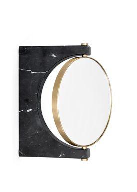 MENU - Mirror - Pepe Marble Mirror - Black / Wall