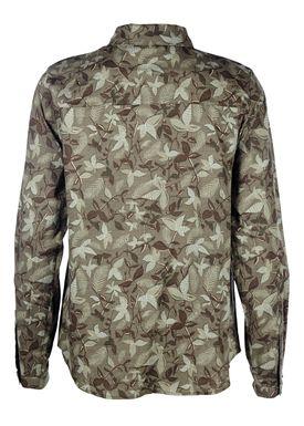 Modström - Shirt - Silver Botanical Shirt - Botanical Army Green