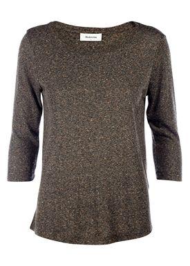 Modström - T-shirt - Solena 3/4 T-shirt - Brown Melange